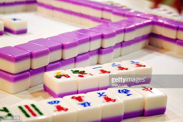 Purple Mahjong Tiles