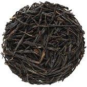 Purple Needle Yunnan black tea isolated round shape