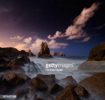Purple night : Stock Photo