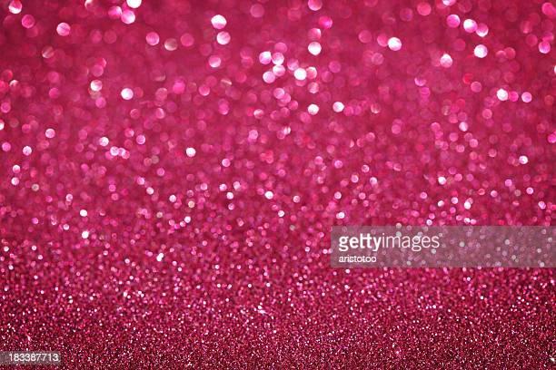 パープル/ピンクのグリッタークリスマスの背景