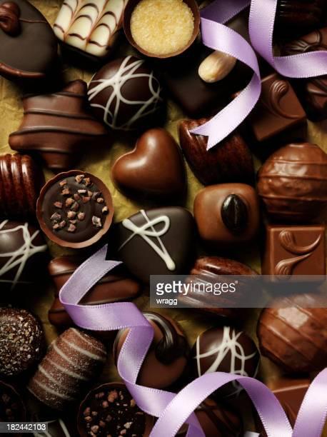 Purple Ribbon and Chocolates