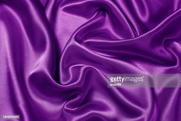 Purple satin scrunched together