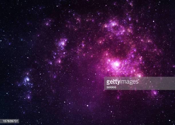Roxo espaço estrelas