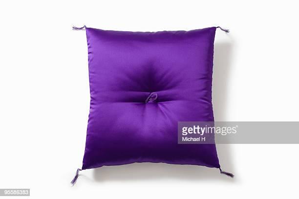 Purple square cushion