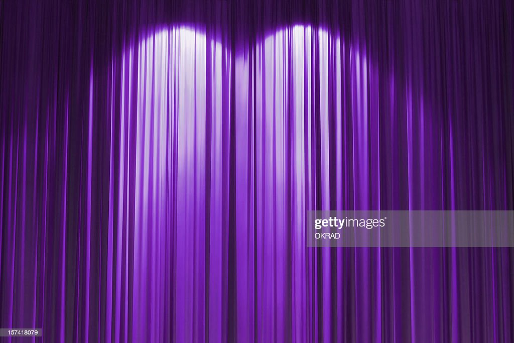 Purple stage curtains - Purple Stage Curtain Wallpaper Background Stock Photo