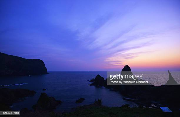 Purple Sunset in Oki-Island
