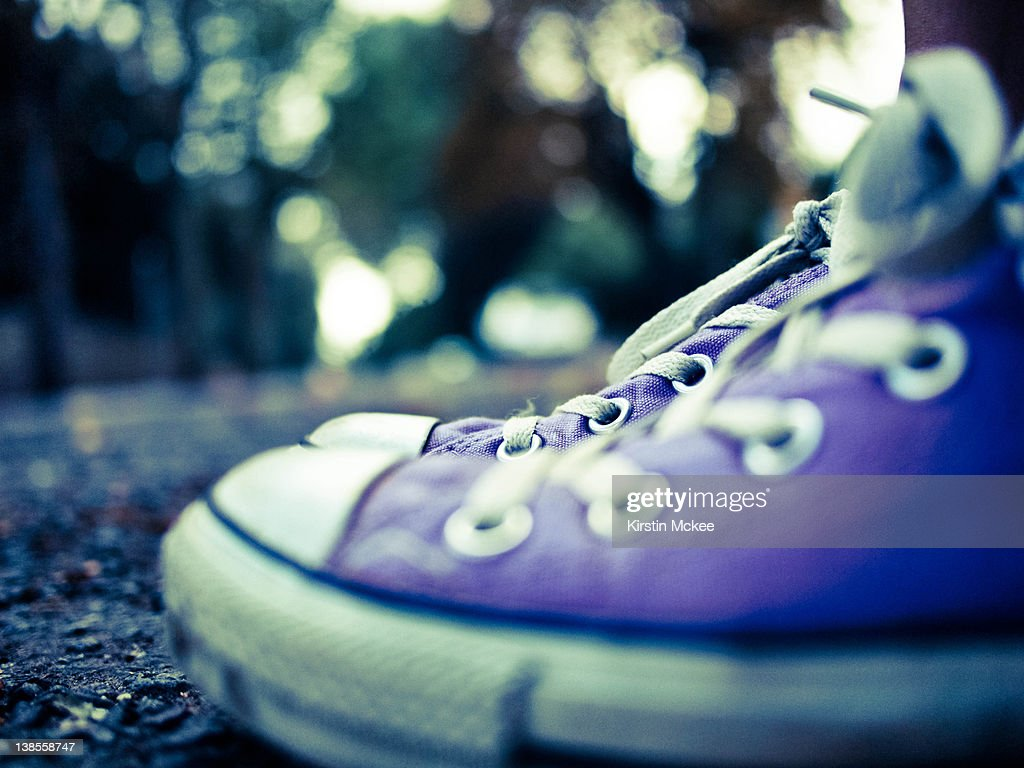 Purple trainers