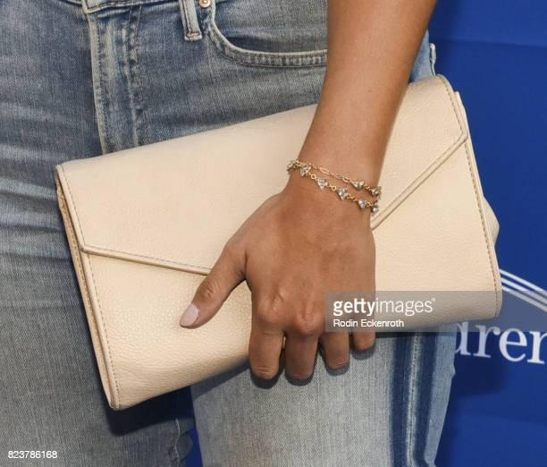 Purse fashion detail Becca Tilley attends the 5th Annual Ping Pong 4 Purpose on July 27 2017 in Los Angeles California