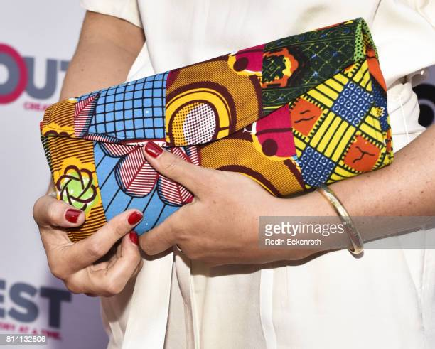 Purse fashion detail director Katherine Fairfax Wright attends the 2017 Outfest Los Angeles LGBT Film Festival centerpiece screening of 'Behind The...