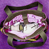 Purse Filled with Gadgets