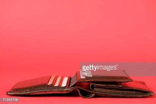 Purse with credit cards, close-up