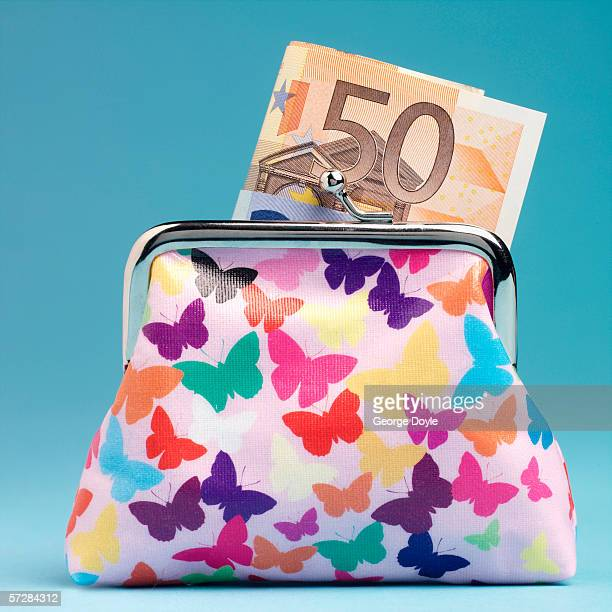 Purse with fifty euro note
