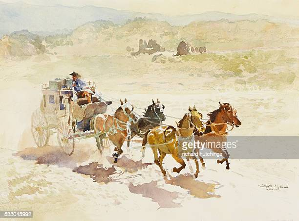Picture Of Stagecoach Stock Photos And Pictures Getty Images