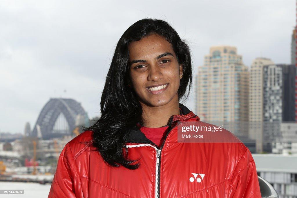 Pusarla Venkata Sindhu of India poses during an Australian Open Badminton Media Call at Star City on June 19, 2017 in Sydney, Australia.