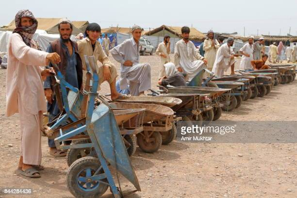 Push Cart Carriers For Ration Or Goods In Flood Affected Camps