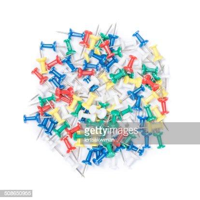 Push pin : Stock Photo