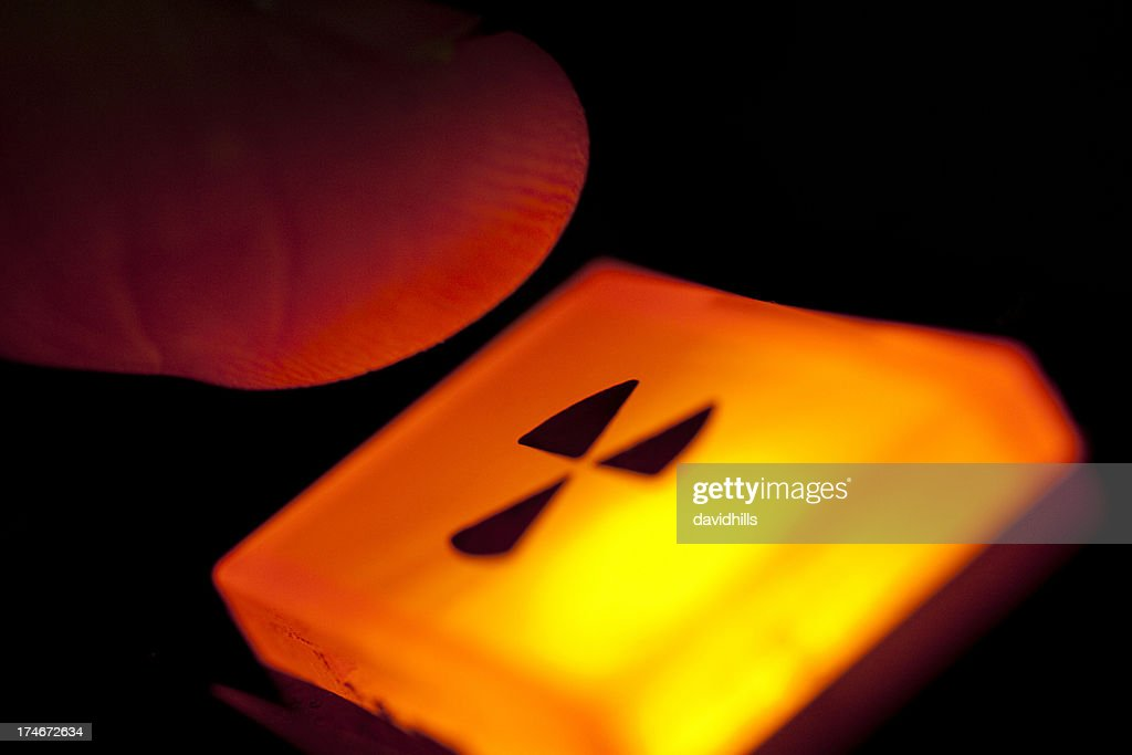 Push the button; radiation warning or nuclear war; last resort