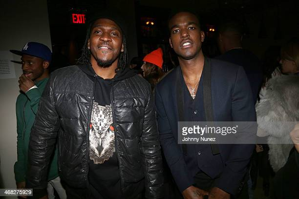 Pusha T and Luke James attend the Daniel Arsham x Chris Stamp Presentation during MADE Fashion Week Fall 2014 at Milk Studios on February 9 2014 in...
