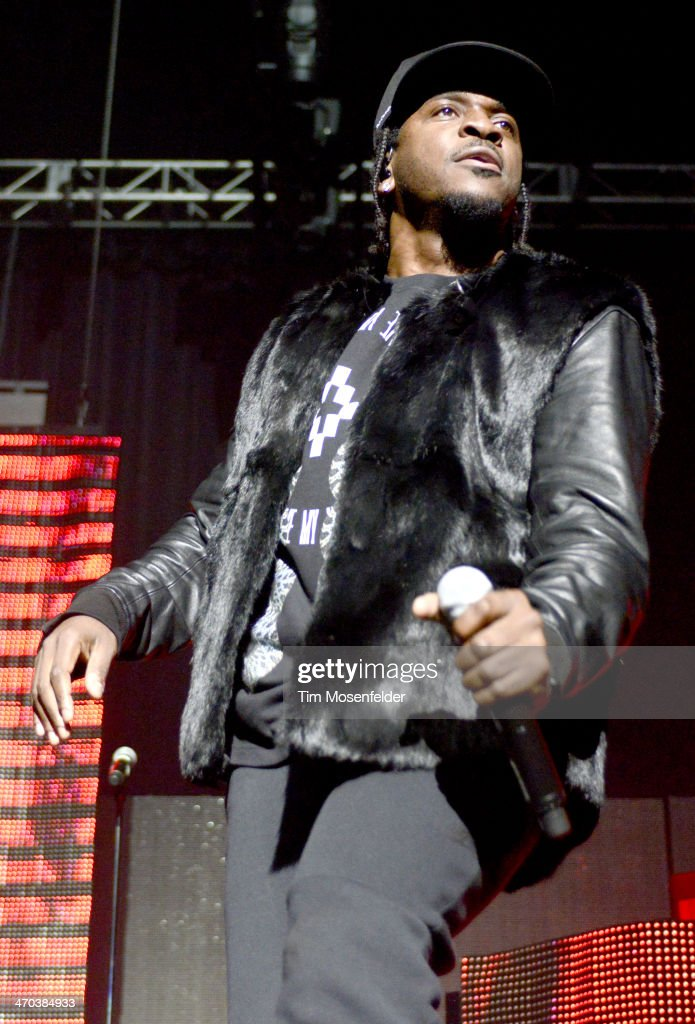 Pusha T performs in support of his 'My Name Is My Name' release at The Fox Theatre on February 18 2014 in Oakland California
