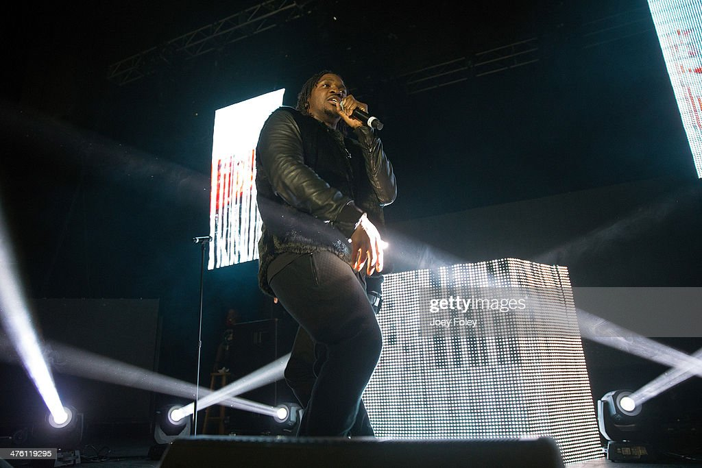 Pusha T performs live onstage in concert as he opens for 2 Chainz during the 2 Good To Be T.R.U. Tour in The Egyptian Room at Old National Centre on March 1, 2014 in Indianapolis, Indiana.