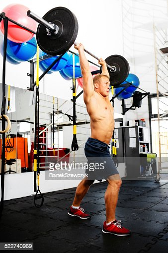 Pushing to his own limit : Stock Photo
