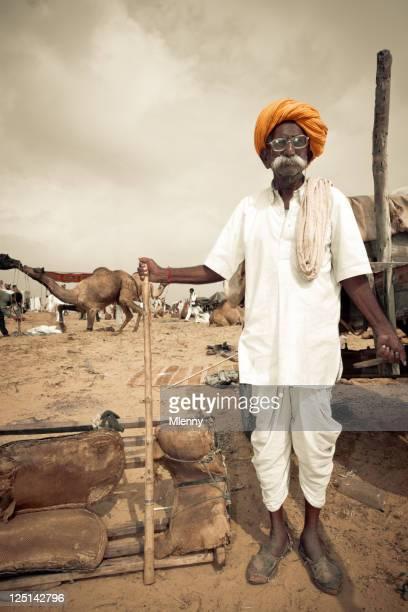 Pushkar Fair Indian Camel Market India Real People Portrait Series