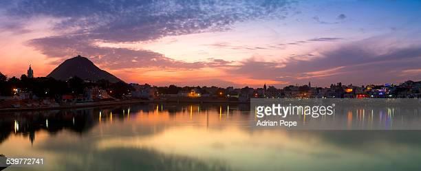 Pushkar Lake at twilight