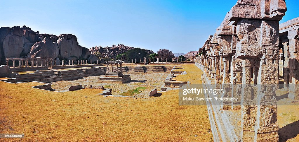 Pushkarani at Achyuta Raya's Temple Campus, Hampi : Stock Photo