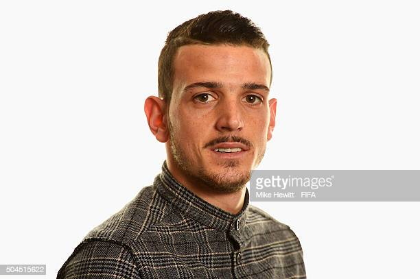 Puskas Award nominee Alessandro Florenzi of Italy and Roma poses for a portrait prior to the FIFA Ballon d'Or Gala 2015 at the Park Hyatt hotel on...