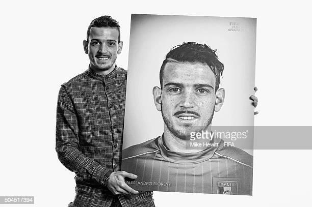 FIFA Puskas Award nominee Alessandro Florenzi of Italy and Roma poses for a portrait prior to the FIFA Ballon d'Or Gala 2015 at the Park Hyatt hotel...