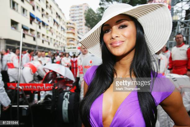 Pussycat Doll singer Nicole Scherzinger attending the race as guest of Lewis Hamilton of Great Britain and McLaren Mercedes is seen before the Monaco...