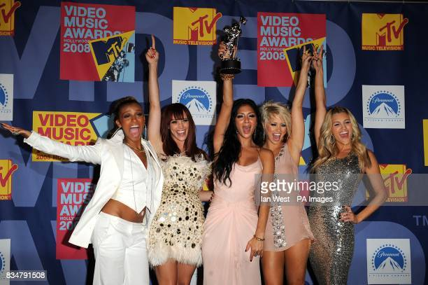 Pussycat Dolls with the award for Best Dancing In A Video at the MTV Video Music Awards 2008 at Paramount Studios Hollywood Los Angeles California