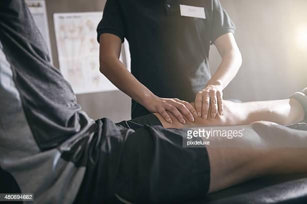 足の痛みには、プロの手