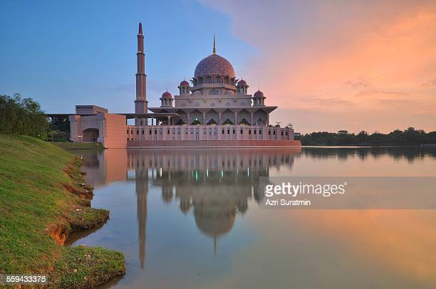 Putra Mosque during sunset