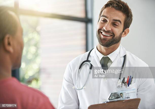 Putting his patient at ease
