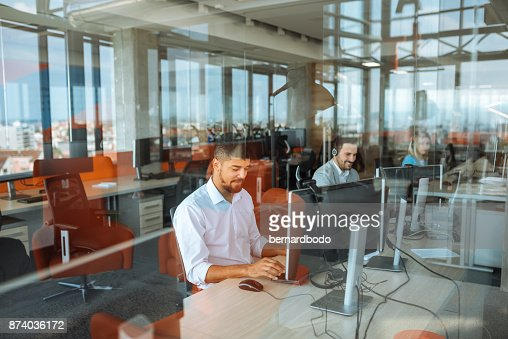 Putting in some overtime : Foto stock