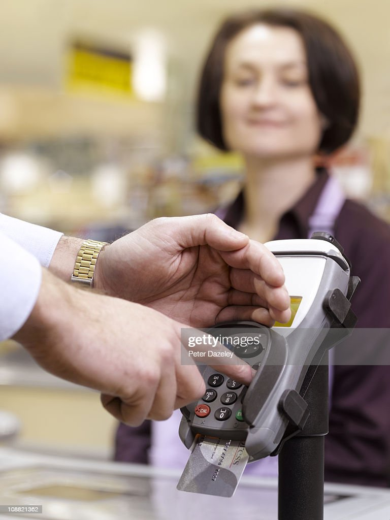 Putting number into chip and pin machine