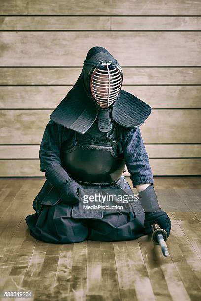 Putting on Kendo gear