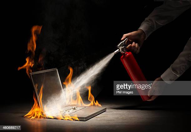 Putting out a computer fire