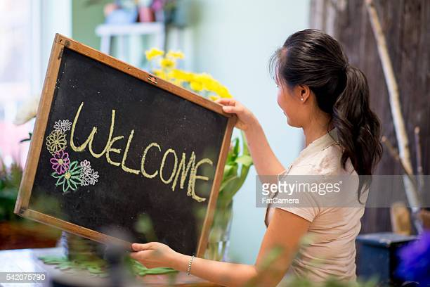 Putting Up a Welcome Sign