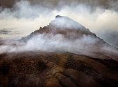 Pu'u O'o at Volcanoes National Park on Hawaii