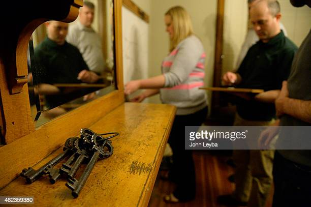 Puzzle and escape rooms are all the rage across the country and in Denver right now A group attempts to escape January 26 2015 as they try one of 5...