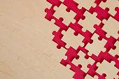 puzzle background on red