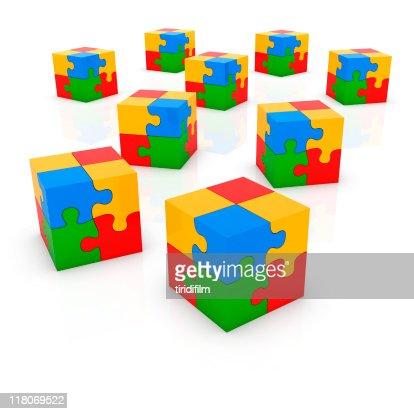 Puzzle Block : Stockfoto
