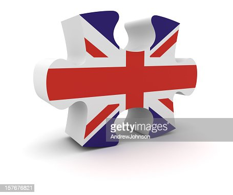 UK Puzzle Concept : Stock Photo