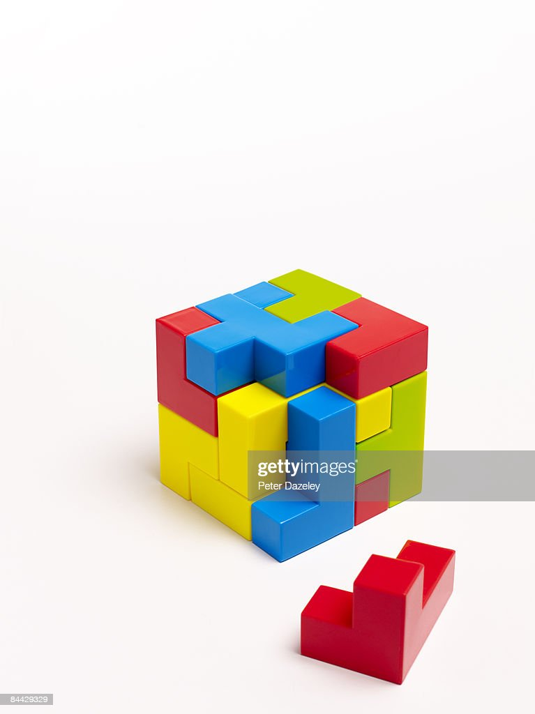 Puzzle on white background : Stock Photo