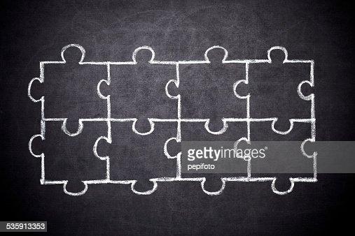 'puzzle' : Foto de stock
