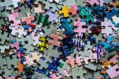 Puzzle set colored