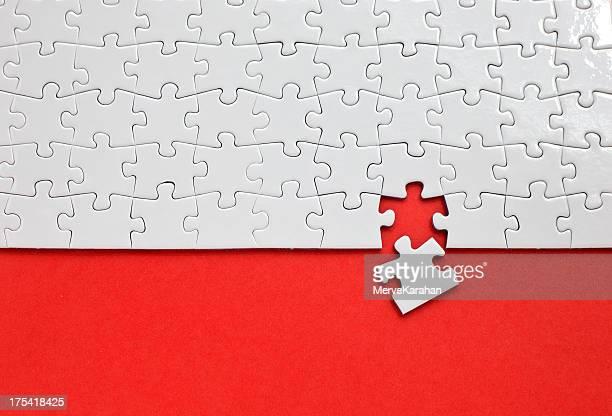 Puzzle mit fehlenden Stück