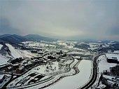 Ski Jump Center Pyeong Chang South Korea